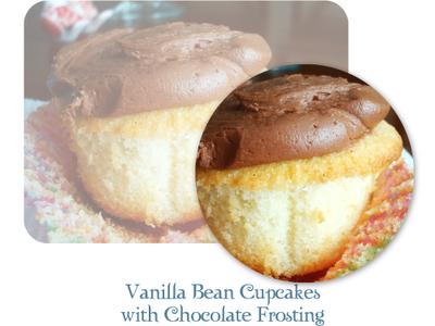 Vanilla Choc Cupcakes