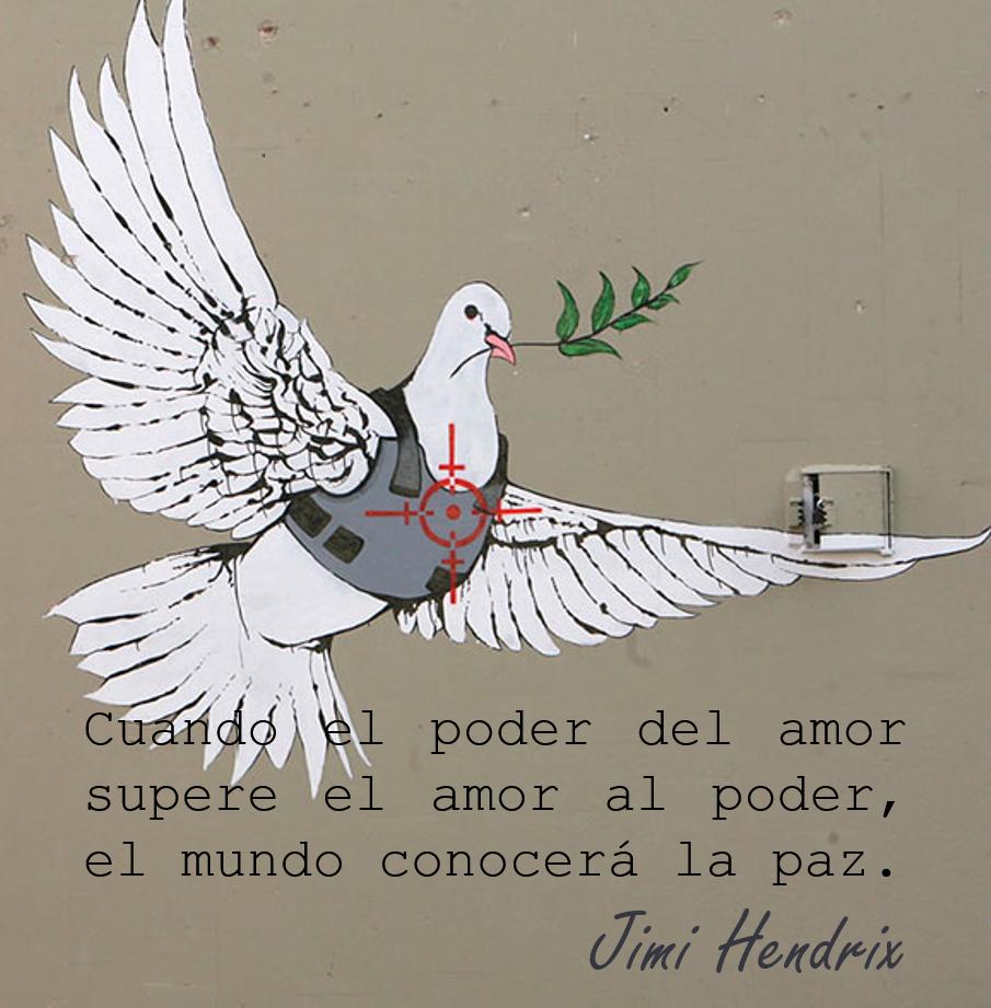 Frase célebre sobre el amor y la paz Jimi Hendris