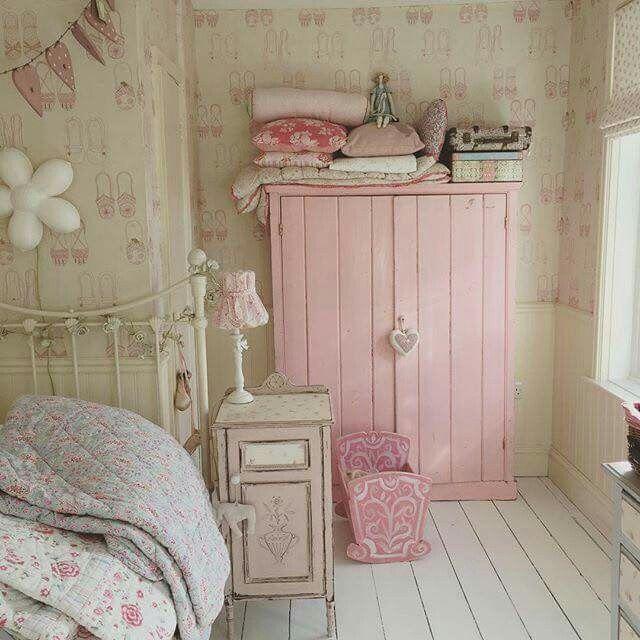 Schlafzimmer Deko, Kinder Zimmer, Altrosa, Landhaus, Impressionen,  Inspirierend, Einrichtung, Rosa Schlafzimmer, Shabby Chic Schlafzimmer