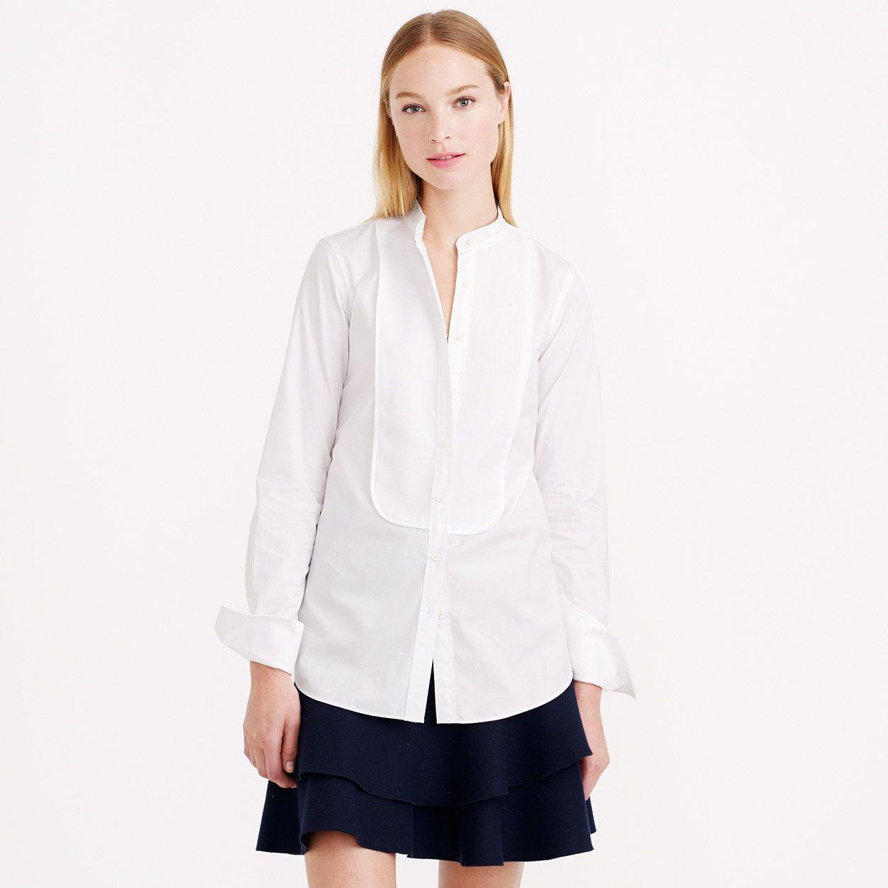 Thomas Mason® for J.Crew mandarin-collar tuxedo shirt : classic shirts | J.Crew