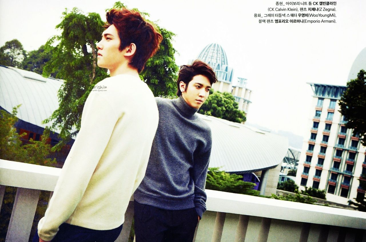 C.N BLUE Jung Yong Hwa and Jong Hyun - Marie Claire Magazine January Issue '13