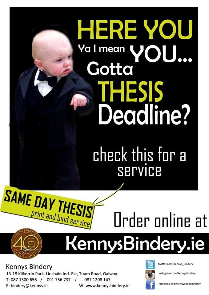 thesis filing deadline Adhering to these deadlines will expedite the process and help you avoid unexpected obstacles to a successful graduation applications, requests, and forms turned in after these posted deadlines will still be accepted, but.