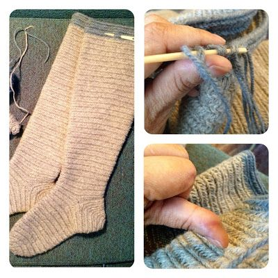 Vanhan vuoden lupaus: neulasukkaohje. As I promised : how to make a nalbinded sock. - Hibernaatiopesäke