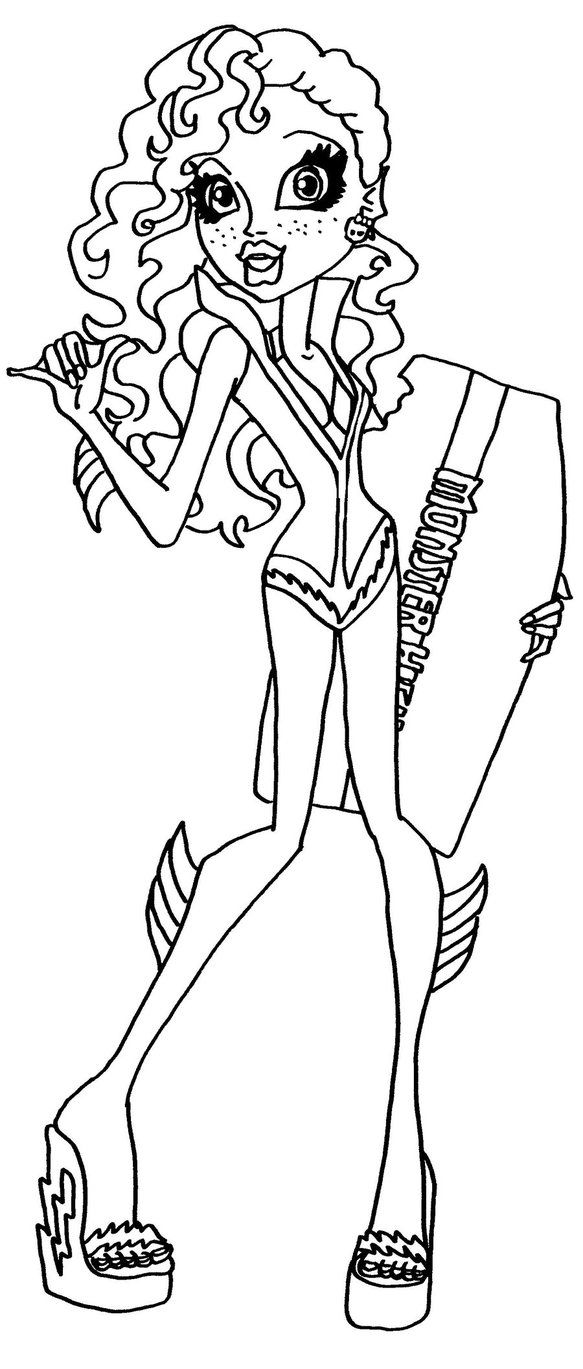 lagoona blue monster high coloring page coloring pages