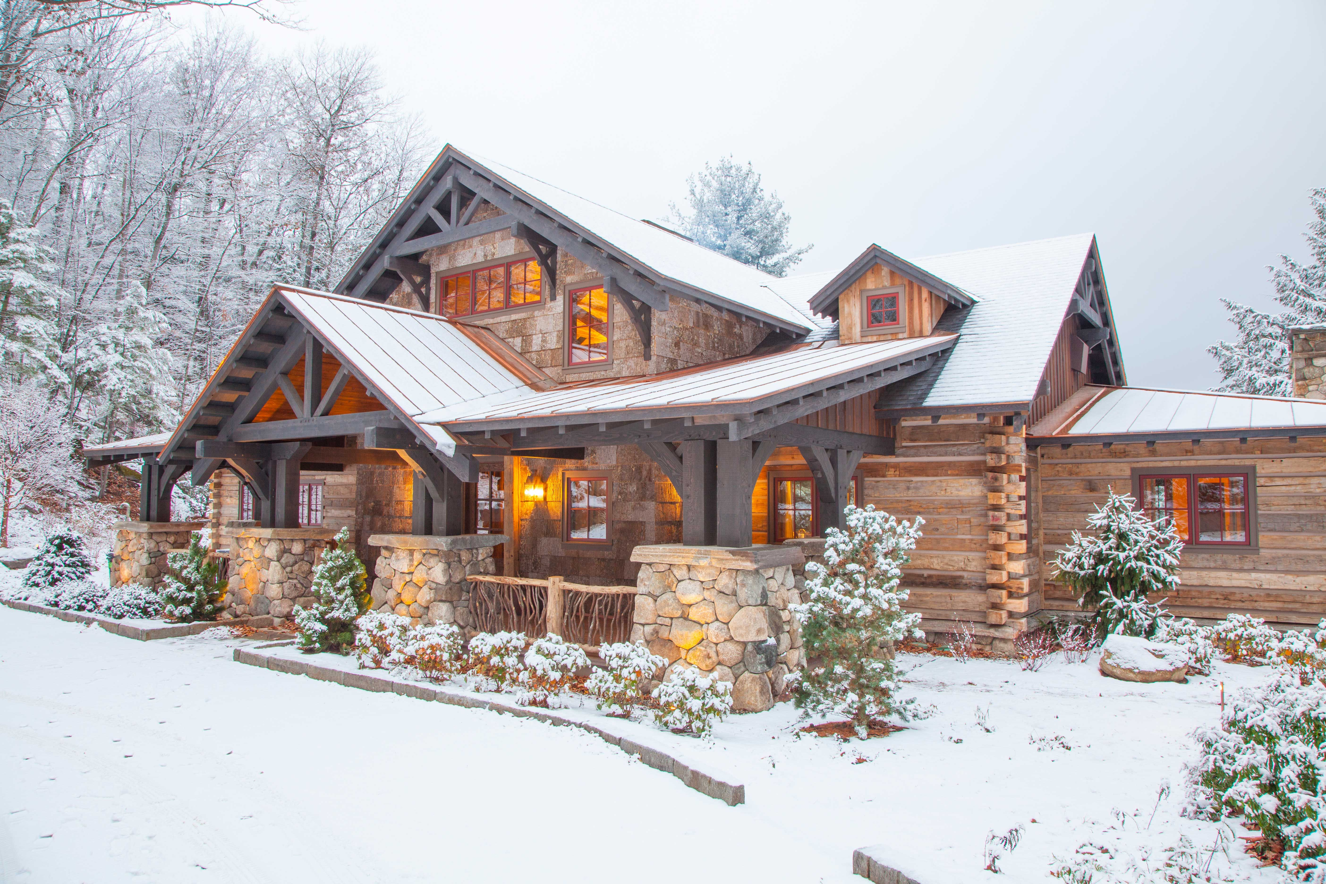 This Beautiful Lake And Snow Lodge Site On The Waters Edge Of Lake Sunapee And Only One Mile From Mt Sunapee Ski Log Homes Timber Frame Homes Log Home Designs