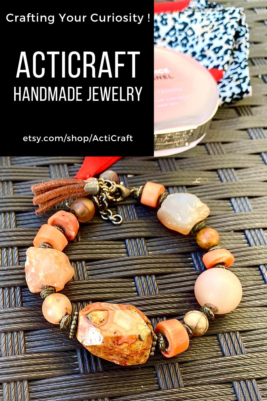 Mixed nature stone bracelet