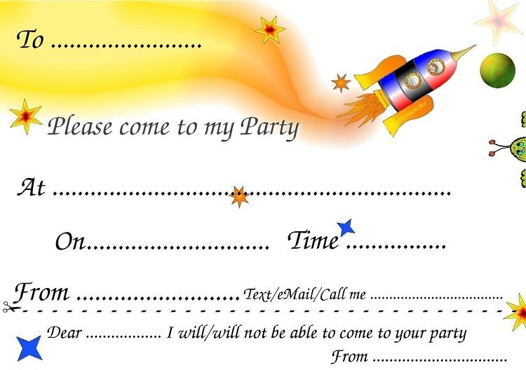 Happy Birthday Invitation Card With Yellow