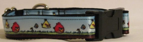 Angry Birds Collar by HandmadeInTheHammer on Etsy, $15.00