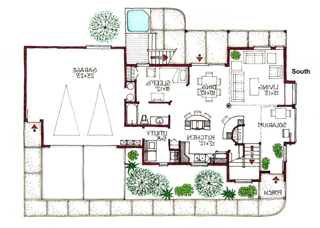 10 Awesomely Simple Modern House Plans Green House Design Floor Plan Design House Floor Plans