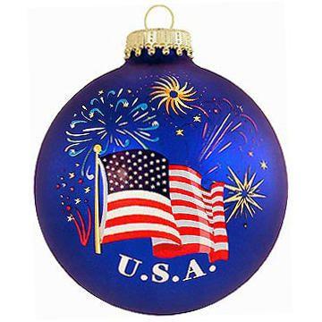 U S A Flag And Fireworks Christmas Ornament Patriotic Christmas Ornaments Patriotic Christmas Marine Corps Christmas Ornaments