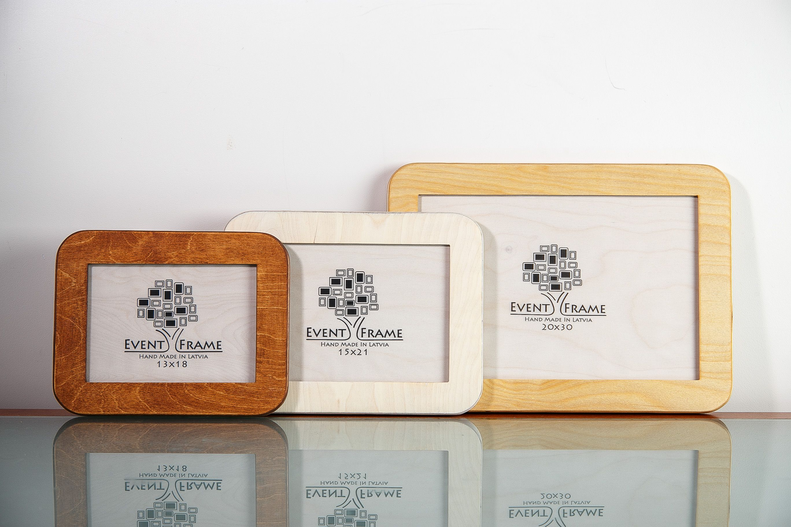 Unique design picture, photo frames from Baltic birch plywood with ...