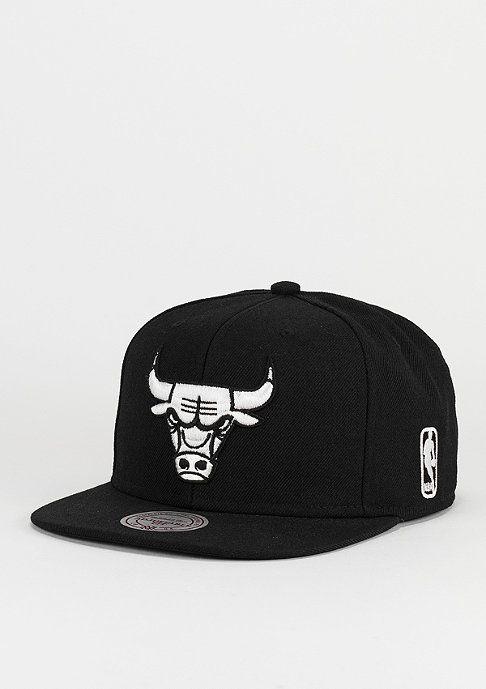 BLACK Chicago Bulls schwarz Mitchell /& Ness Strapback Cap