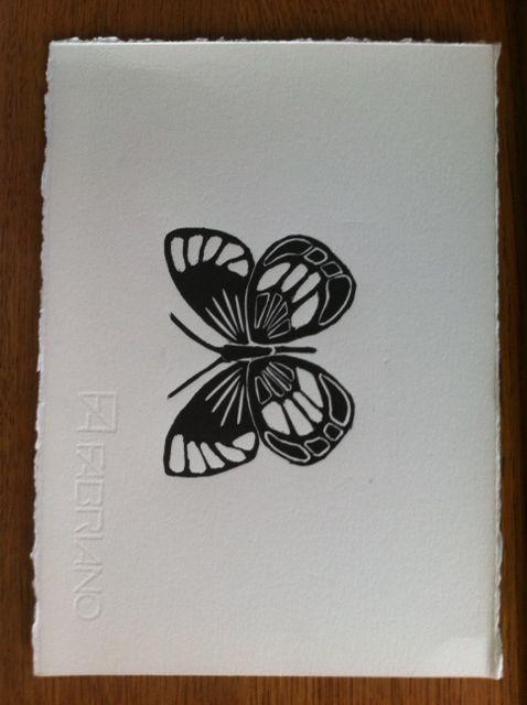 Nice butterfly lino print