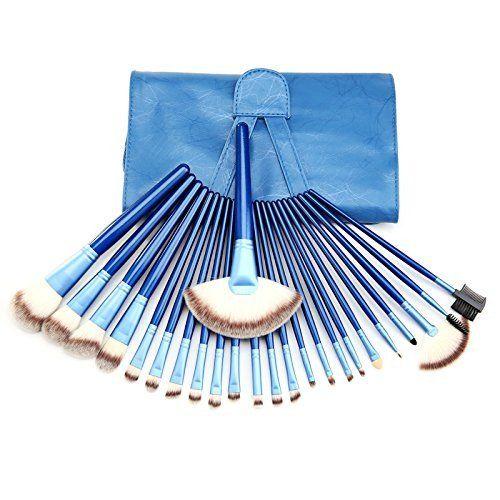 24 Piece Makeup Brush Set Professional Contouring Cosmetic Makeup Beauty Tools #blue #makeup #brushset