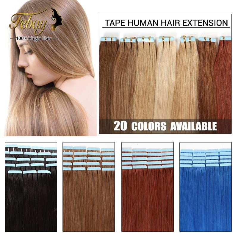 16inch 24inch Tape Human Hair Extension 20pcslot 100 Brazilian