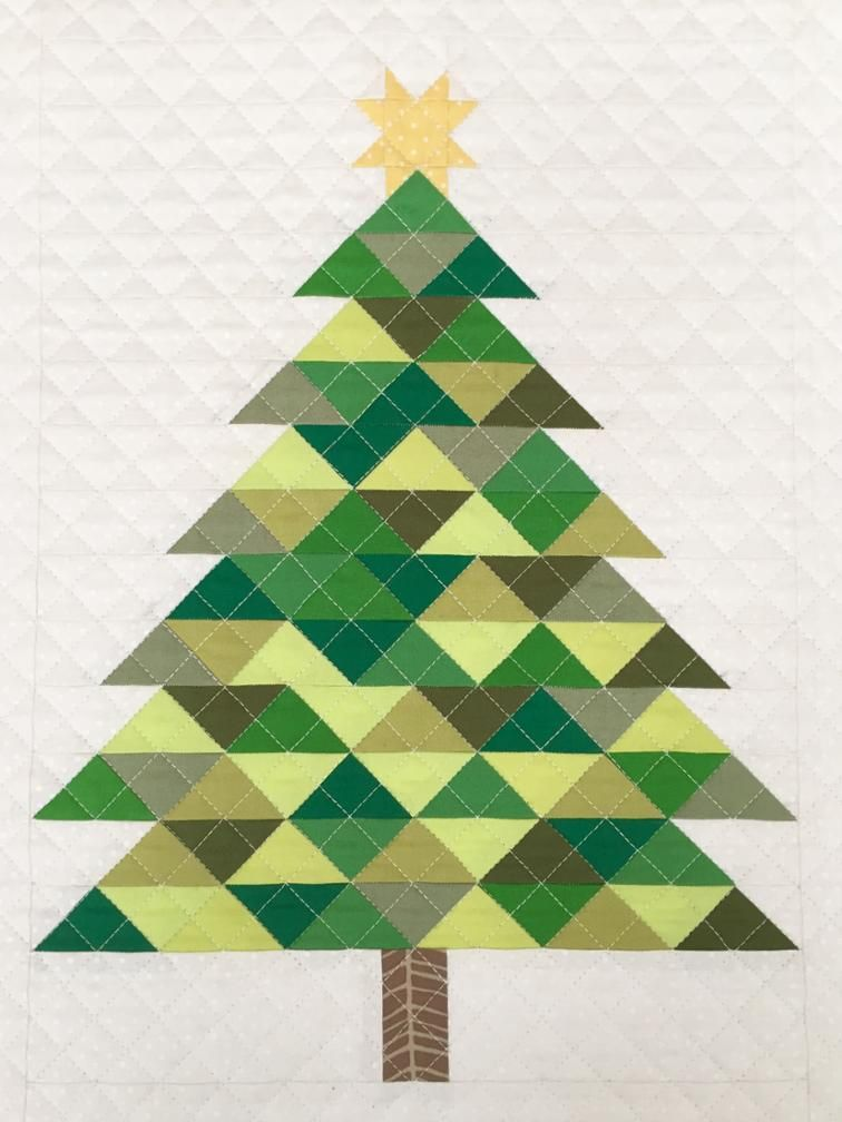 Christmas Tree Paper Pieced Christmas Christmas Tree Quilt