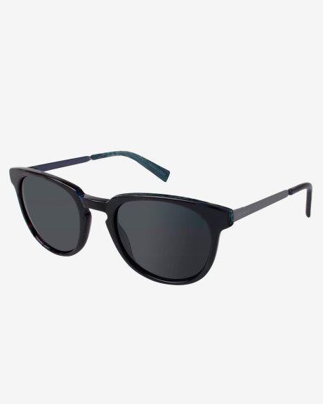 Rounded frame sunglasses - Black | Sunglasses | Ted Baker