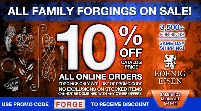 10% off family forgings at king architectural metals! | promos