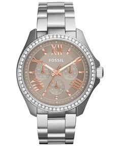 9d3bc439b669 Fossil Women s Cecile Stainless Steel Bracelet Watch 40mm AM4628 - Women s  Watches - Jewelry   Watches - Macy s