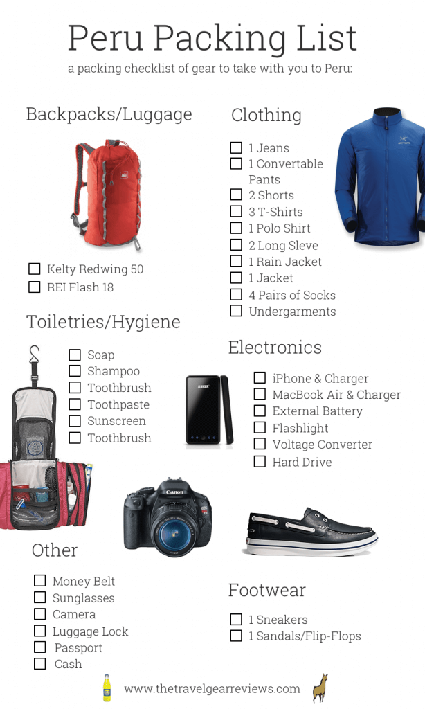 Peru Packing List: Checklist For Travel To Cusco & Lima
