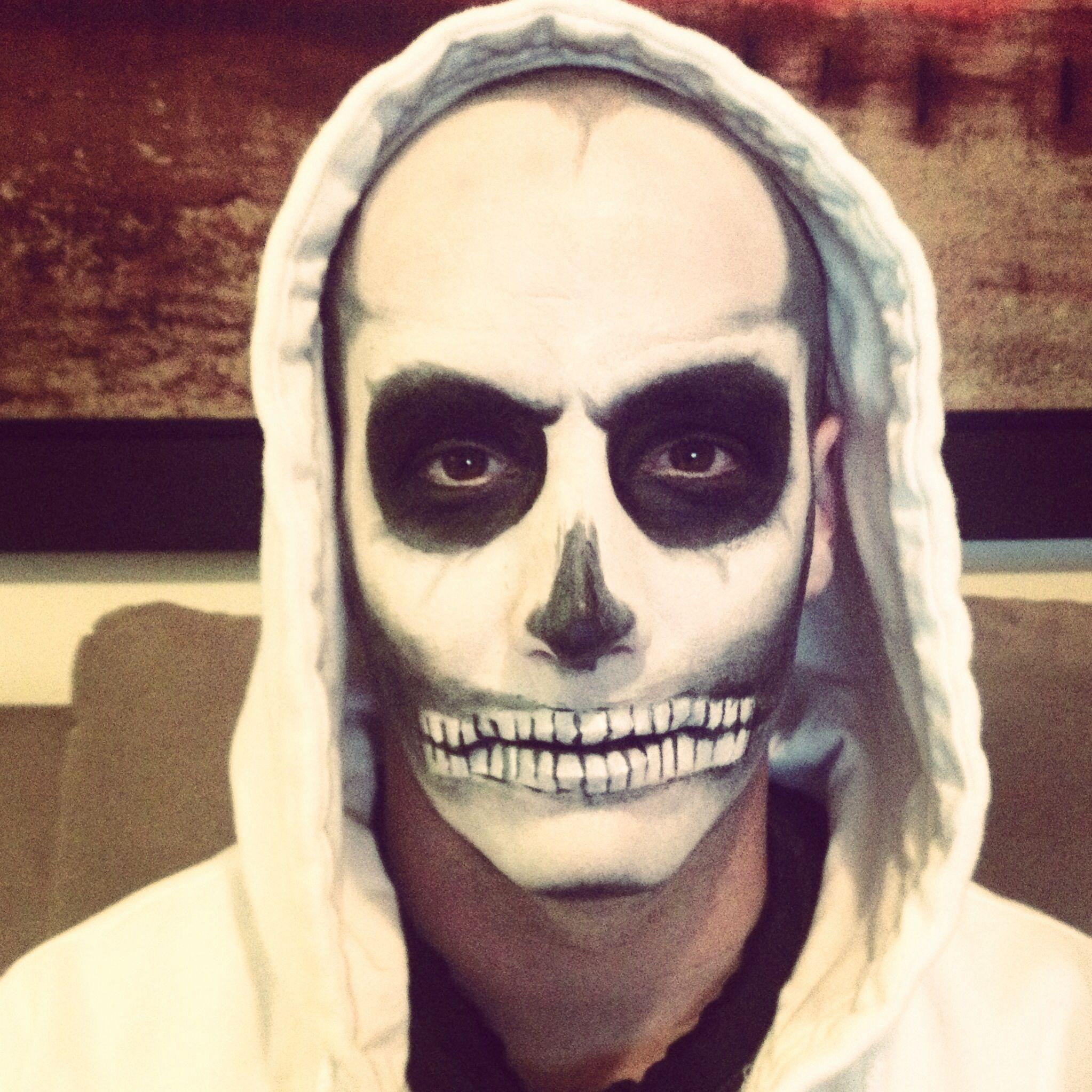Men skull makeup - first trial