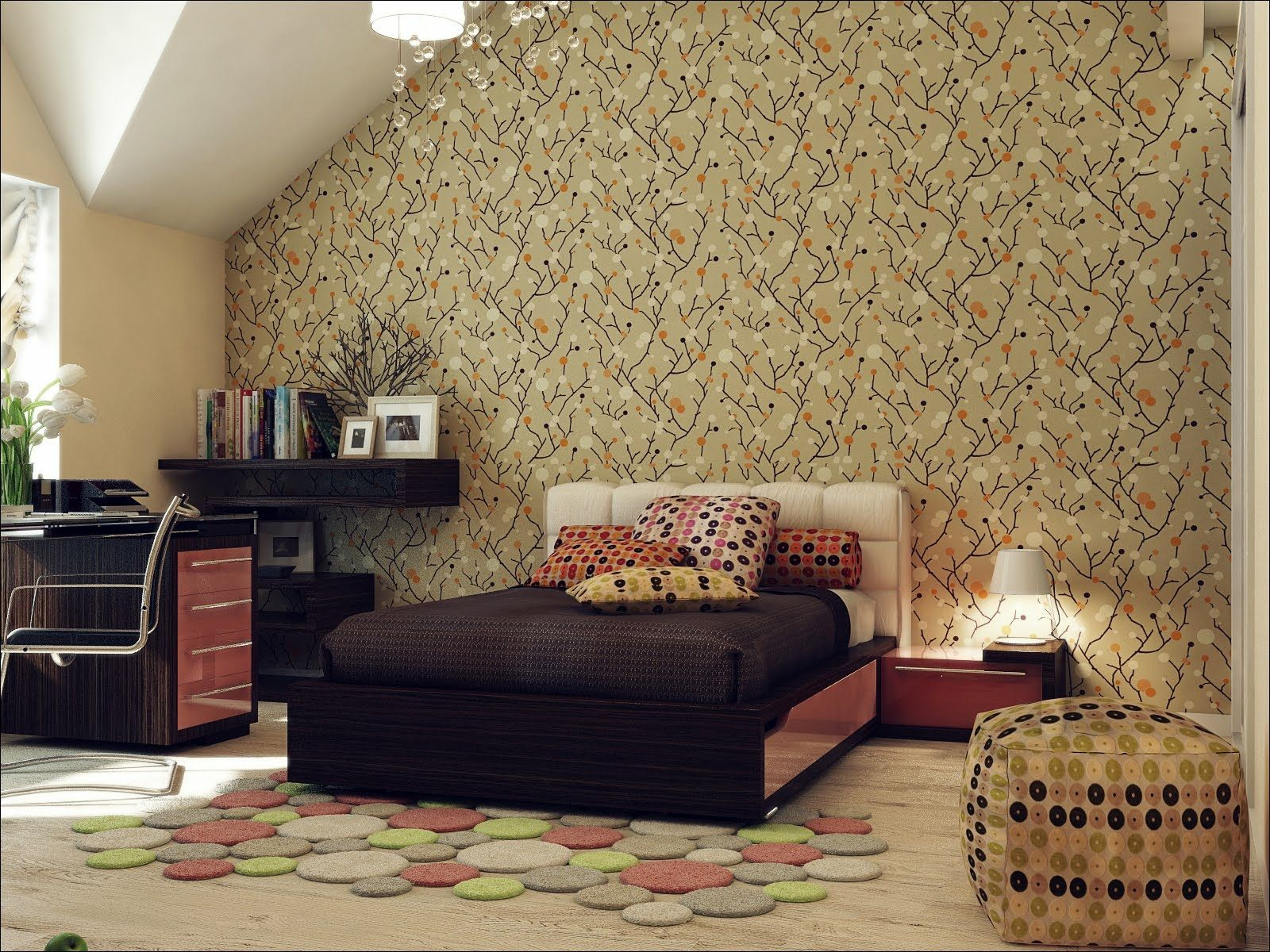 Attic Spaces | Home Decor | Wallpaper design for bedroom ...