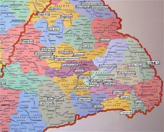 erdély térkép HUNMAGYAR.  ERDÉLY   TRANSYLVANIA | Magyar tortenelem