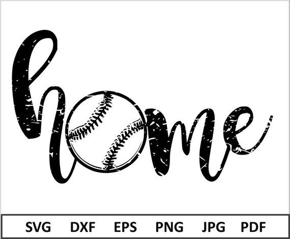 Baseball Home Svg Distressed Baseball Svg file for Cricut Baseball Svg for Mom Silhouette Cameo Base is part of home Projects Cricut - 3949Thank you for visiting my shop !