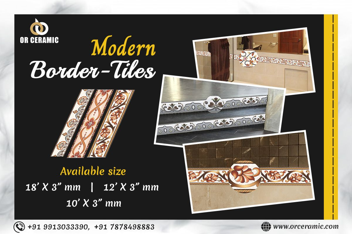 Designer Border Tiles Manufacturer In Uttar Pradesh In 2020 Border Tiles Tile Manufacturers Ceramics