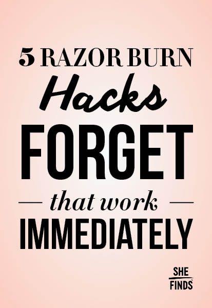 How to treat razor burn | Hack my life ! | Razor burns