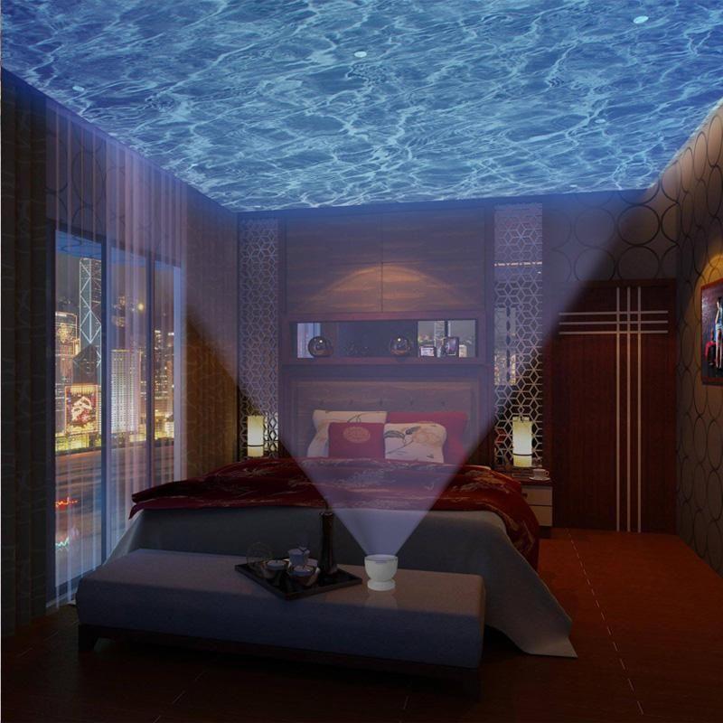 Ocean Night Light Projector W/ Built In Speaker