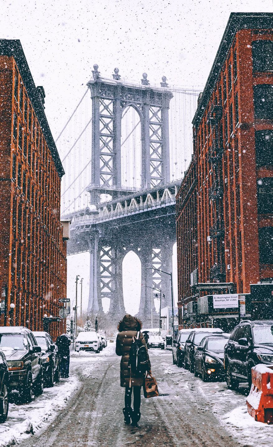 Winter In The City Iphone Wallpaper City Iphone Wallpaper New