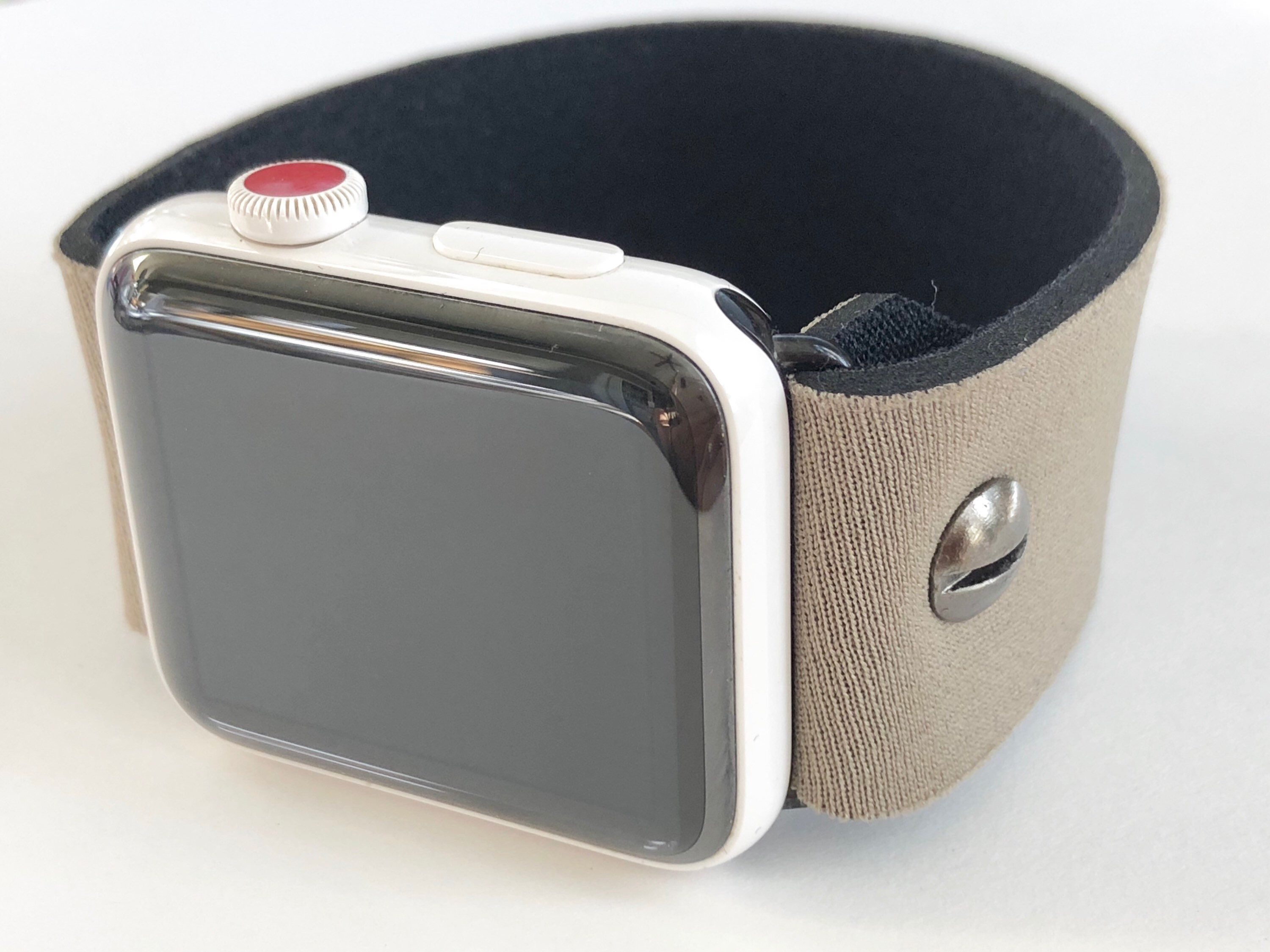 Apple watch band neoprene reversible two toned stretch