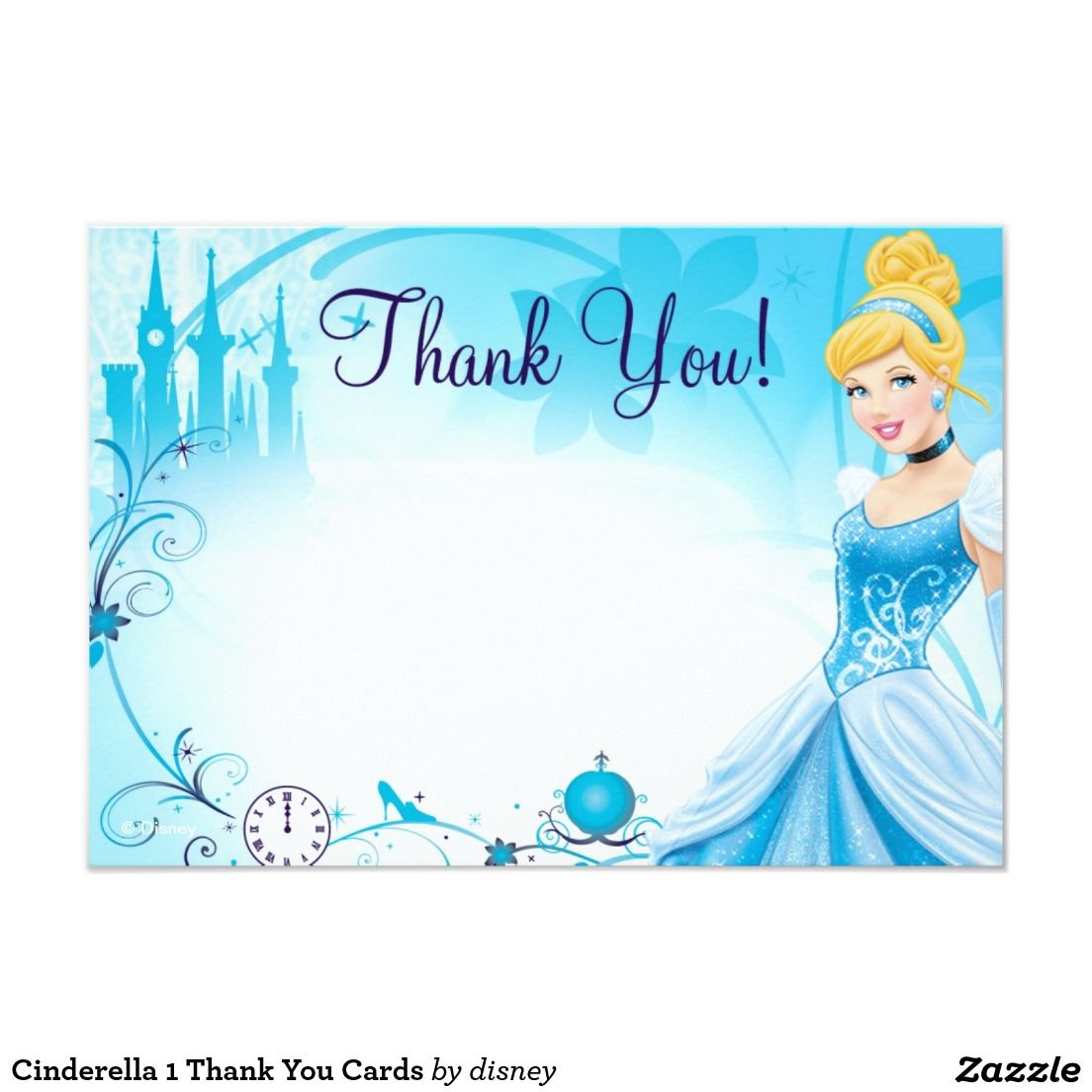 Cinderella 1 Thank You Cards Clip Art And Cards