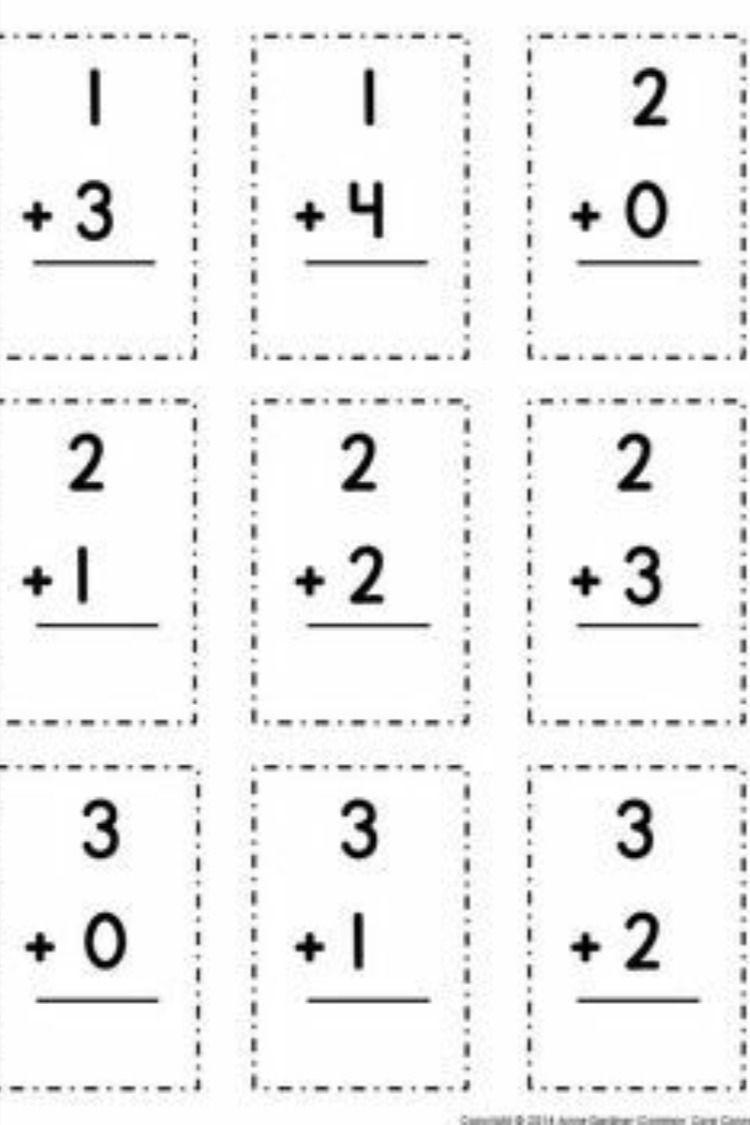 1 Digit Addition Worksheets Addition Flashcards Addition Fact Flashcards Addition And Subtraction [ 1125 x 750 Pixel ]