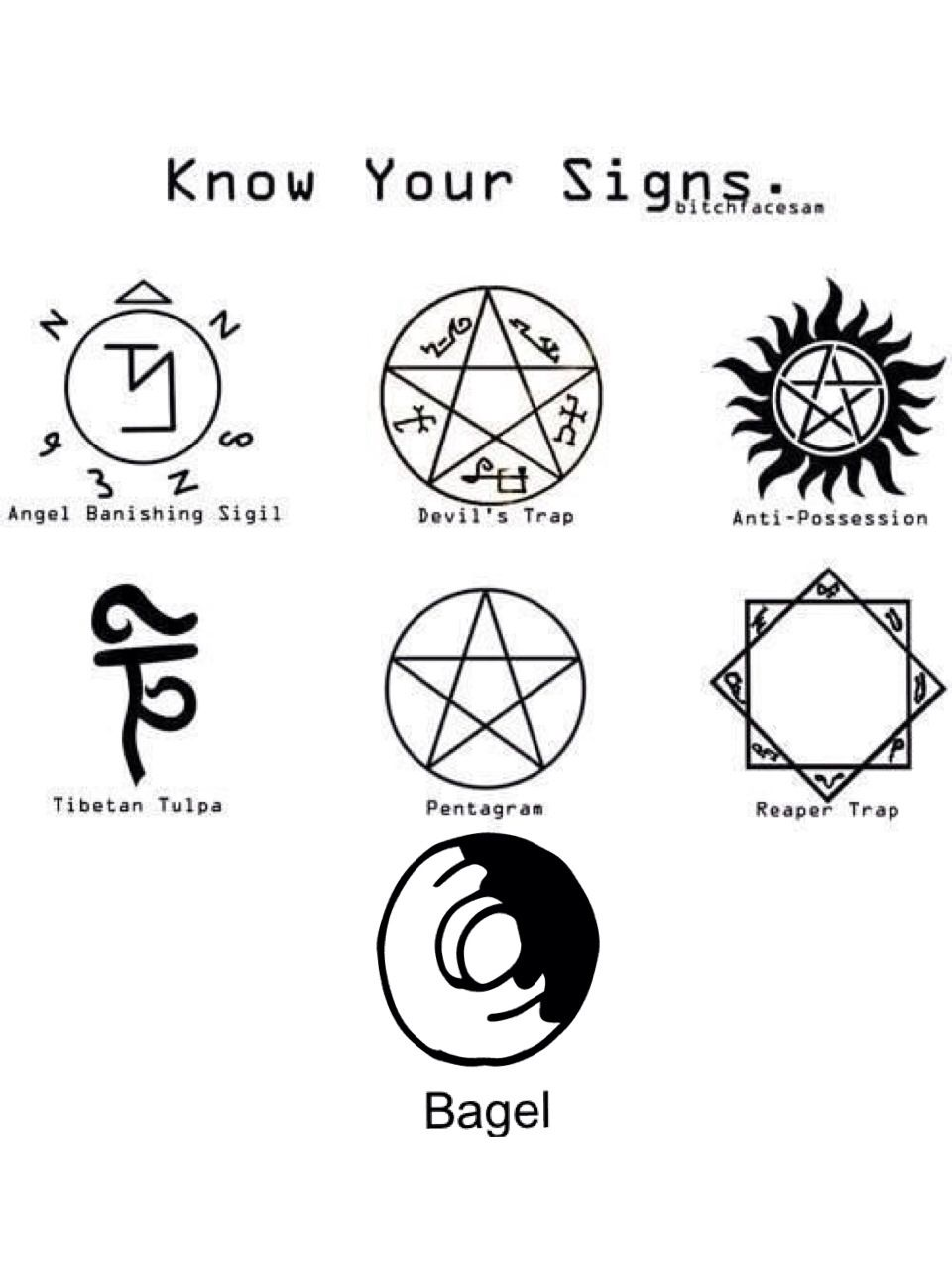 Know your supernatural signs bagelpocalypse supernatural know your supernatural signs bagelpocalypse biocorpaavc Images