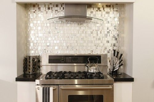 Liberty Diamond Glass Mosaic Tile Backsplash By Granite