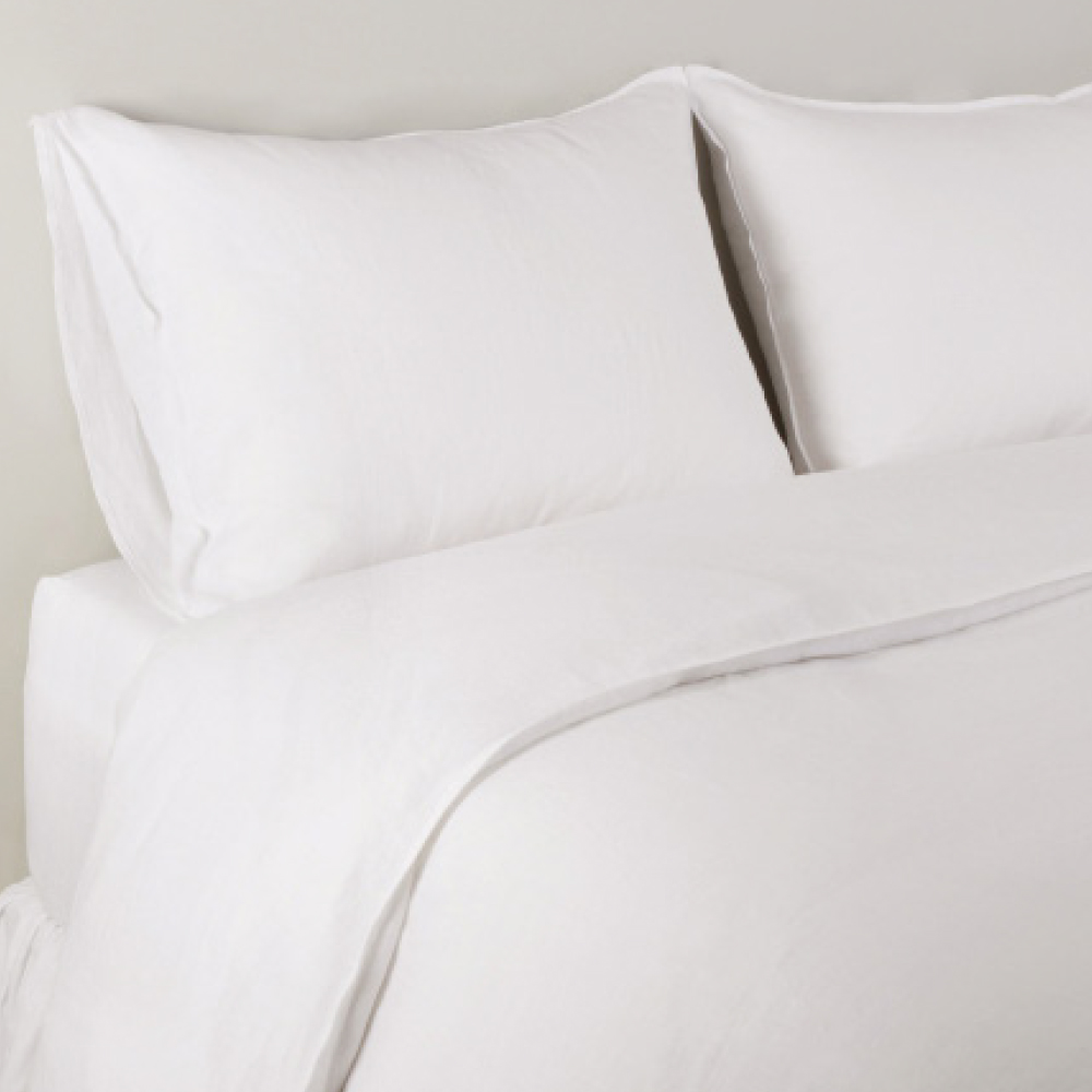 Pom Pom at Home Parker Linen White Duvet Set LaylaGrayce