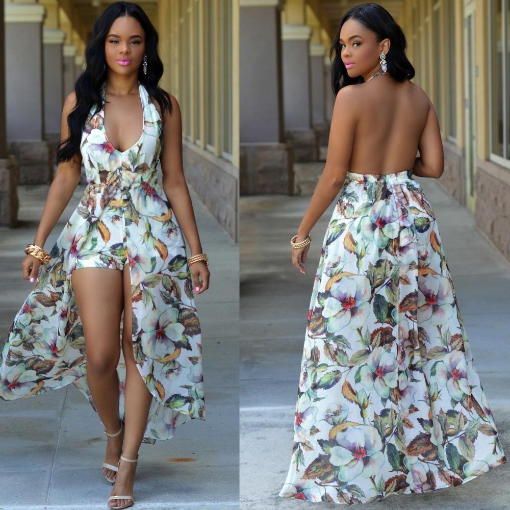 d61c04fa300f Gender: Women Style: Bohemian Neckline: V-Neck Dresses Length: Ankle-