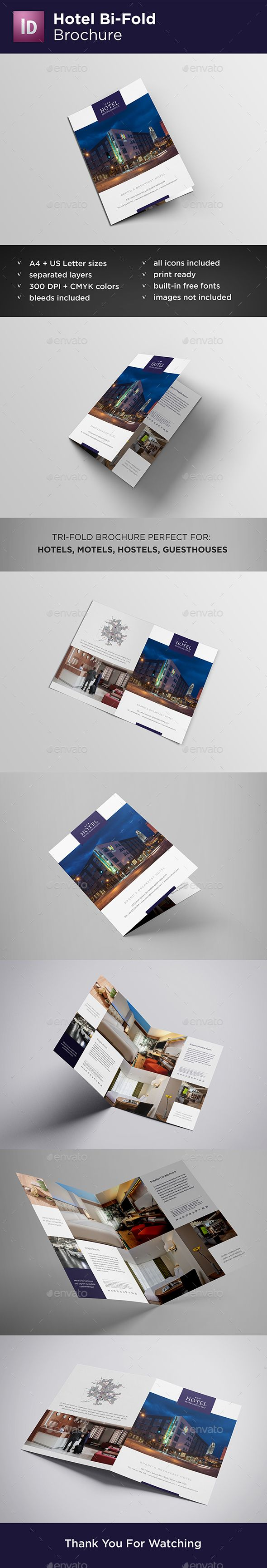 Hotel BiFold Brochure — InDesign INDD #interior #catalog • Available ...