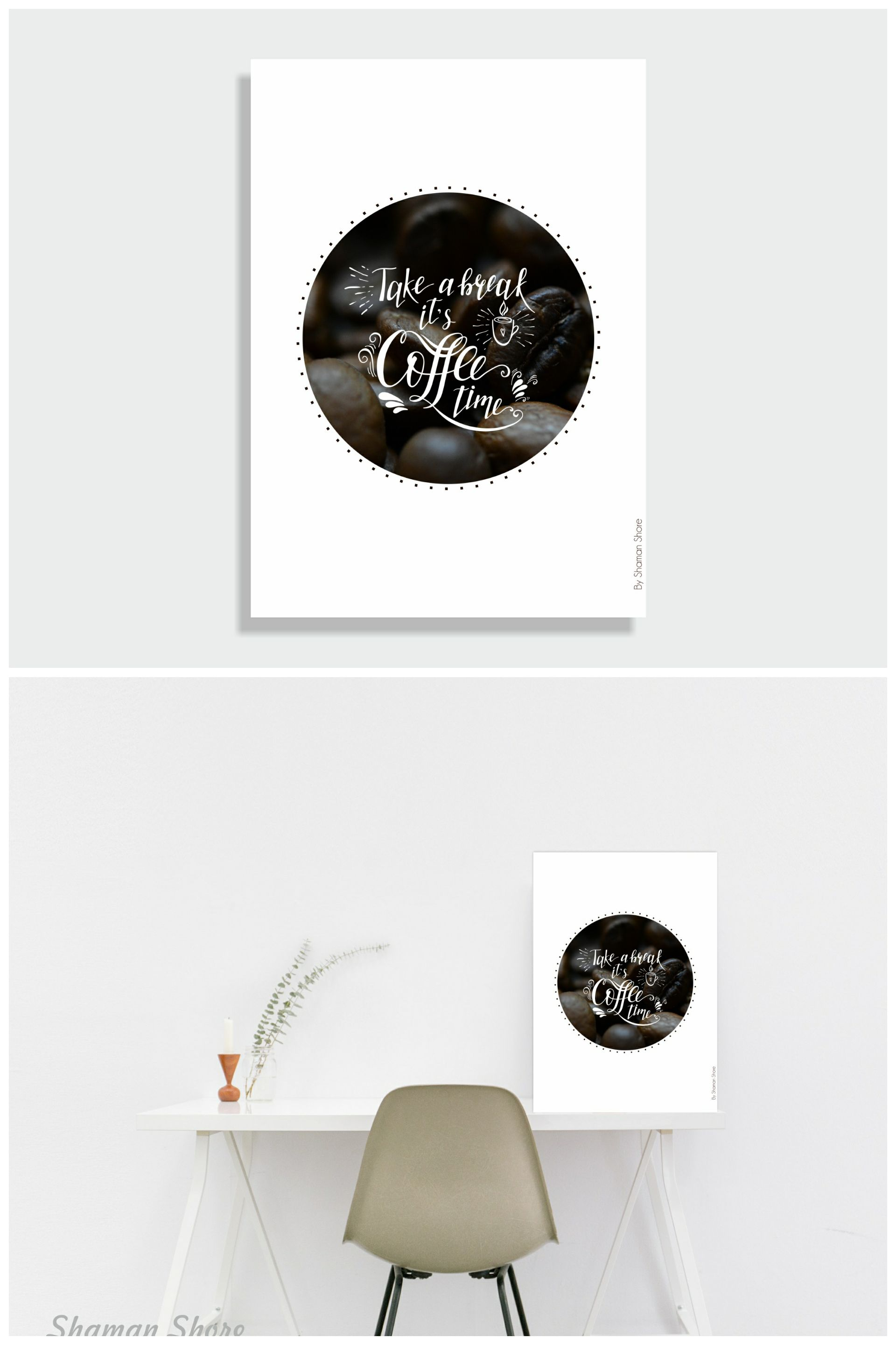 Coffee wall décor for the office take a break itus coffee time art