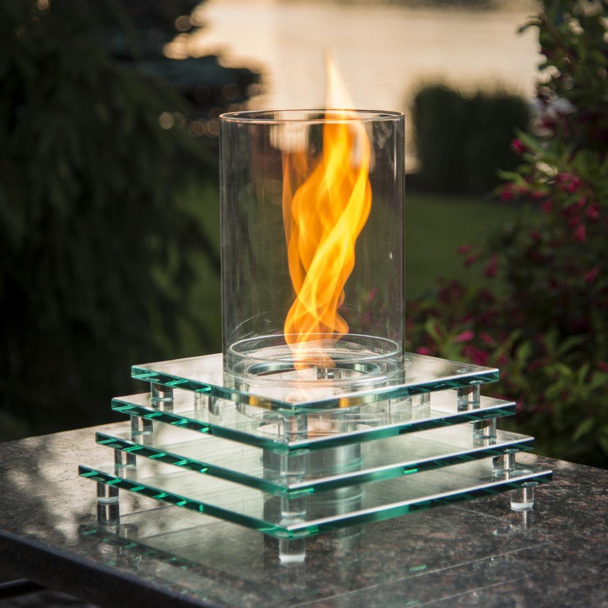 Indoor Tabletop Fire Pit Podsvechniki Dizajn Ogon