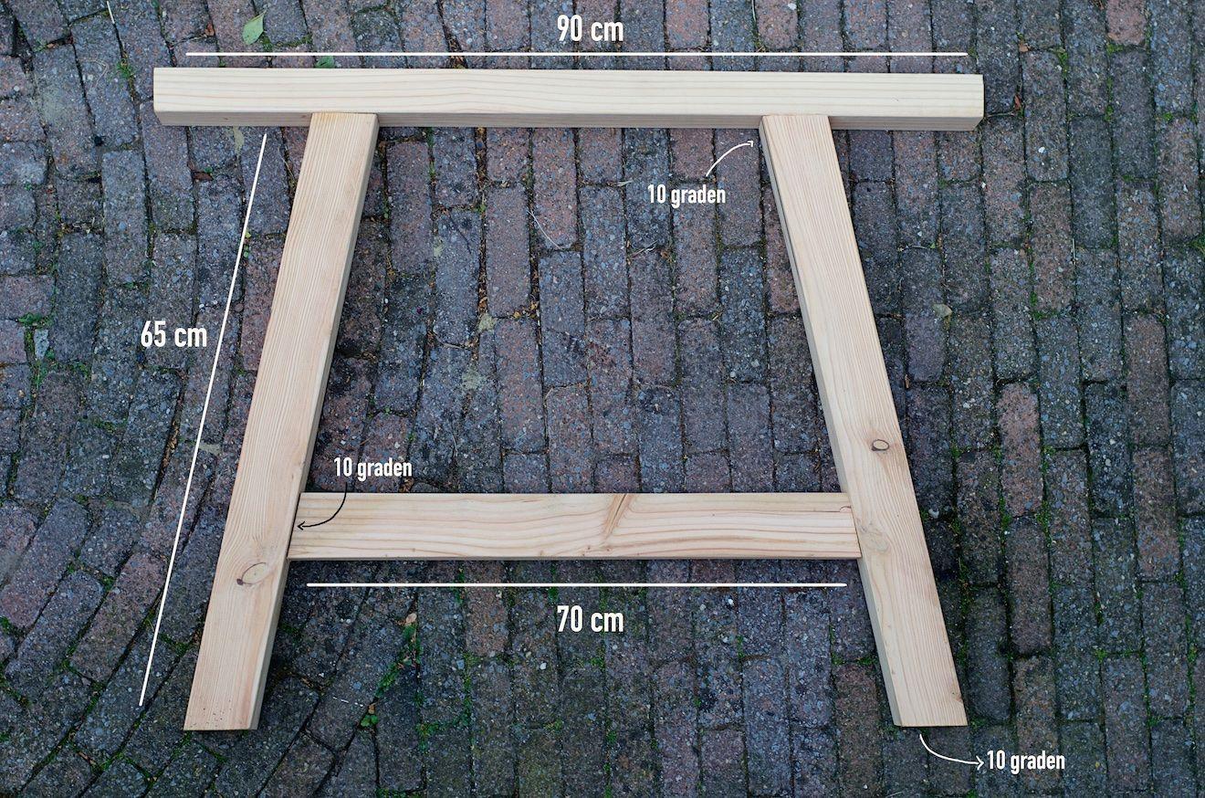 Buiten tafel maken home buiten tuin en hout