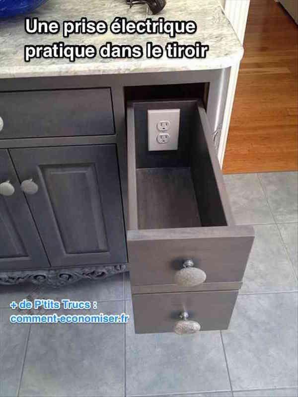 Placez une prise électrique dans les tiroirs | Meuble ...