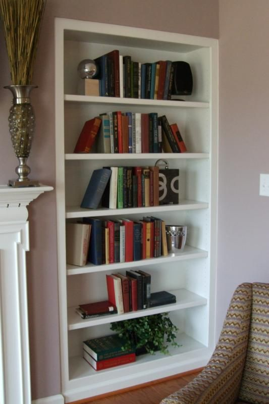 Built In Book Shelves For The Reading Nook