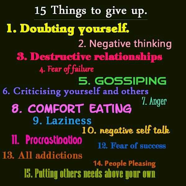 5 negative things about yourself