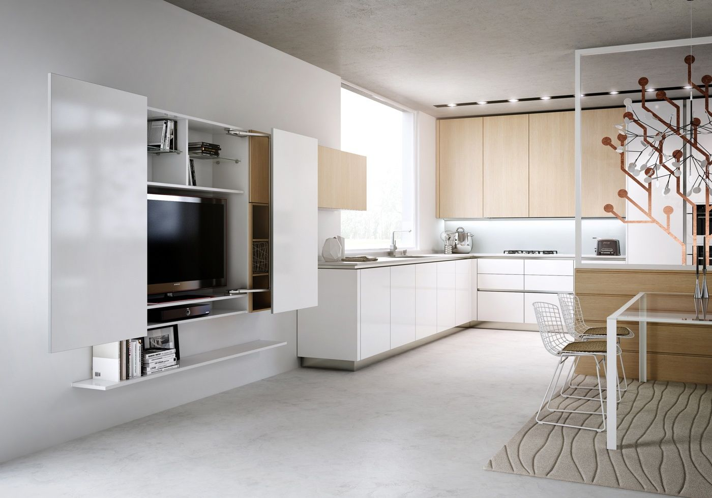 Tv In Kitchen Modern Bedroom Tv Cabinet On White Lofts I Like That It Closes