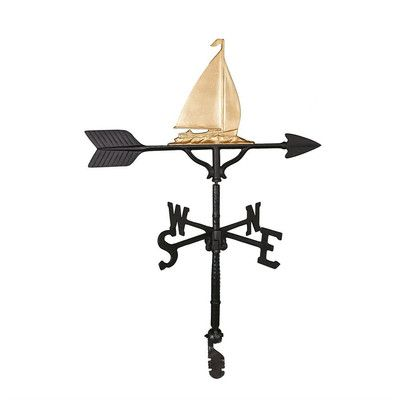 Montague Metal Products Sailboat Weathervane Color: Gold