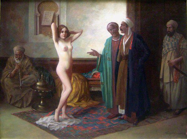Market nude slave Naked women
