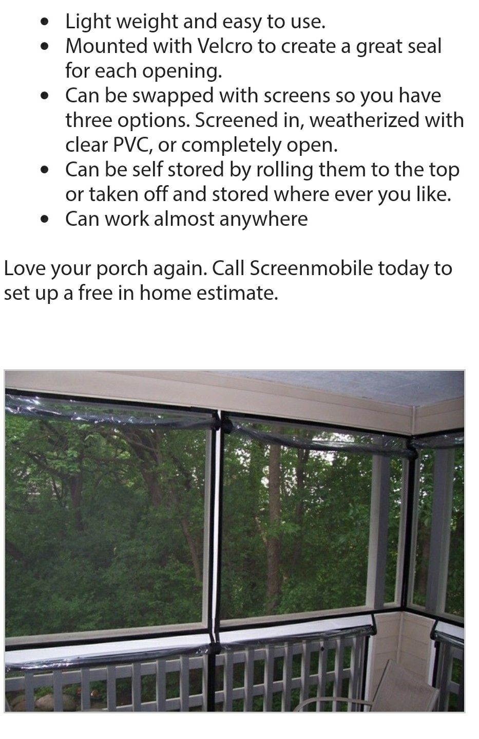 Pollen panels Screened in porch, Screened porch, Mobile home